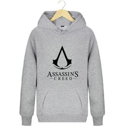 Wholesale assassin creed coats jacket for sale – winter Assassins Creed hoodies Assassin design sweat shirts Popular fleece clothing Pullover sweatshirts Sport coat Outdoor jackets