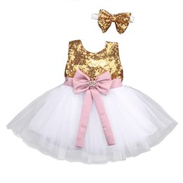 bridesmaid tutus UK - Pudcoco 2019 Flower Girl Dress Sequin Bowknot Lace Princess Baby Party Bridesmaid Gown Formal Tulle Tutu Dresses 0-10y