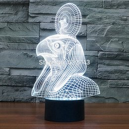 Egypt frEE shipping online shopping - Color changing Egypt Pharaoh Cobra D Acrylic Snake LED Night Light with USB table Lamp of lamparas d led