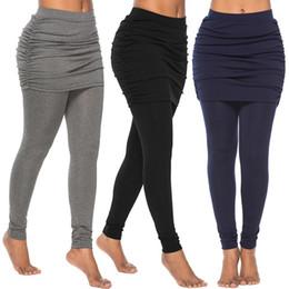 31a2a668f4 Pencil Skirt Leggings Australia - High Waist Solid Color Women Elastic  Pants With Skirt Pencil Pants
