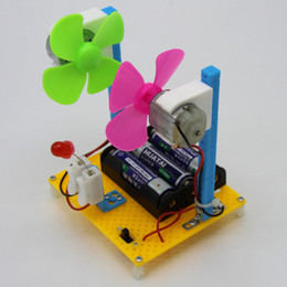 girls toy package NZ - Pupil Science Popularization Experiment Wind Turbine Hand-made Small Inventions Package Assembly Material