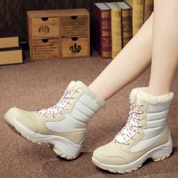 $enCountryForm.capitalKeyWord Australia - Gnome Pu Leather Winter Snow Boots Women Shoes High Top Ankle Boots Women Warm Plush Fur Ladies Platform Wedges Shoes Woman