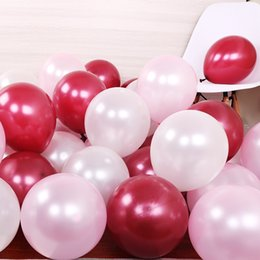 $enCountryForm.capitalKeyWord Australia - 100pcs lot birthday balloons 2.8g 12inch Latex balloons Gold red pink blue Pearl Wedding Party balloon Ball kids toys air balloons