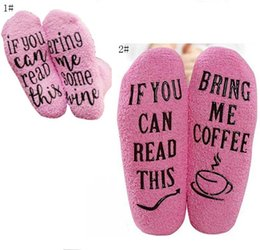 $enCountryForm.capitalKeyWord UK - Winter Warm Socks IF YOU CAN READ THIS Bring Me Some Wine Letter Christmas Socks Pink Pile Loop Stockings Unisex Funny Socks Gift New