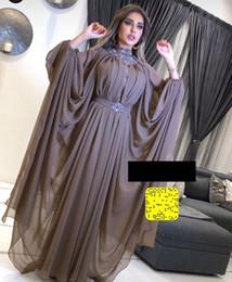 Long sLeeve pink dresses online shopping - Yousef Ajasmi Beaded Dubai Middle East Elegant Evening Dresses Long Sleeve Party Gowns Dress Evening Wear robe de soiree Abendkleider