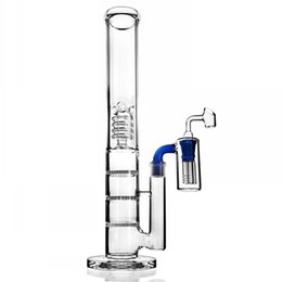 beaker ash catcher UK - Tall Bong Honeycomb Perc Percolator Bongs Water Pipes Heady Oil Rigs Chicha Dabber Beaker Bongs With 18mm Ash Catcher 17.3 Inchs