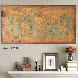 large vintage poster Canada - Large Vintage Office Supplies Detailed Antique Poster Wall Chart Retro Paper Matte Kraft Paper Map Of World