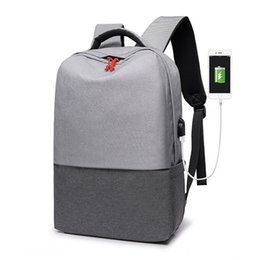 Train Usb Australia - High Quality Multifunction Anti-theft Sports Backpack USB Charging Backpack Men Nylon Travel Bag Women Fitness Training Gym Bag #941618