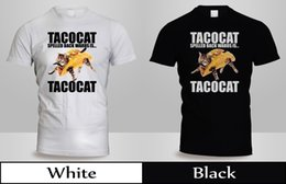 $enCountryForm.capitalKeyWord Australia - TACO CAT Backwards Kitty Mexican Food Animal T-Shirt Mens Blak&White SHirtfree shipping Unisex Casual Tshirt