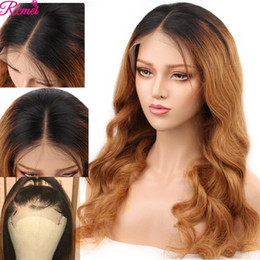 blonde highlight wigs Australia - 13x4 Lace Front Human Hair Wigs Ombre 1b 27 Blonde Highlights Long Straight Lace Front Wigs 150% Pre Plucked Baby Remy Hair Wig