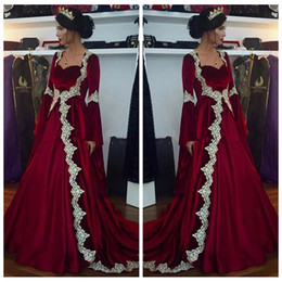 $enCountryForm.capitalKeyWord Australia - Sweetheart A-Line Long Sleeves 2019 Evening Dresses Lace Appliques Modest Special Occasion Party Gowns Cheap Middle East Vestidos De Prom