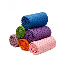 6d8c9266cf Yoga Blankets Towels Silicone Dot Anti-slip Yoga Towel Mats Fitness  Exercise Blanket Outdoor Camping Tent Beach Towels Pilates Pads LT247