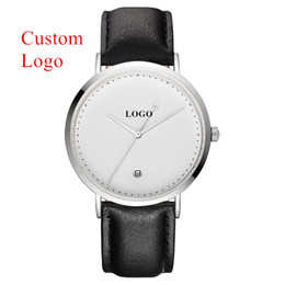 $enCountryForm.capitalKeyWord Australia - CL026 Custom Watch Wholesale Logo Engraved Simple White Watches OEM Designer Wrist Watch For Men