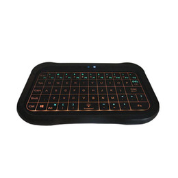 Wireless Keyboards For Pc UK - T18 2.4GHz Mini Wireless keyboard With Touch-Screen three LED indicators Use for Android TV Box Projector IPTV HTPC PC Laptop