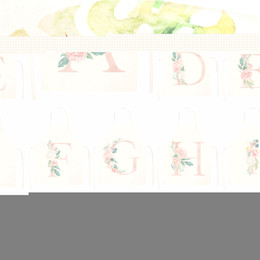 $enCountryForm.capitalKeyWord Australia - 1Pcs Pink Letter Flower Kitchen Aprons for Women Cotton Linen Bibs Household Cleaning Pinafore Home Cooking Apron 53*65cm Q0005