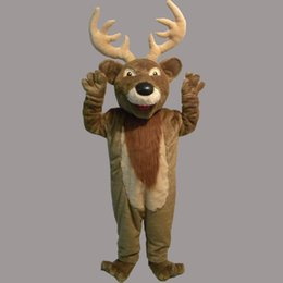 top shipping new Christmas Rudolph as Reindeer Mascot Costume Costumi classici per adulti Cartoon Outfit Fancy Dress