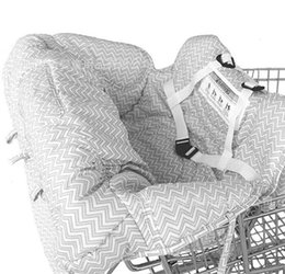 Carry Chair Australia - Shopping Cart Cover, High Chair Cover for Baby and Toddler, Unisex for Boy or Girl, Carry Bag Attached gray Geometry
