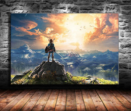$enCountryForm.capitalKeyWord Australia - 1 Pieces Canvas Prints Wall Art Oil Painting Home Decor The Legend of Zelda Breath of The Wild -2 (Unframed Framed) 24x36.