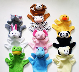 Wholesale cartoon stories for sale - Group buy Cartoon Animals Finger Puppet Panda Hippo Rabbit Early Education Plush Toy Parent child interaction Tell Story for Xmas Kid Gift