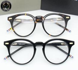 Prescription Glasses Frames Brands Australia - New Thom Eyewear Glasses Frame Men Retro Vintage Brand Prescription eyeglasses Women Optical Spectacle glass Frame Clear lens glasses TB404