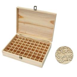 $enCountryForm.capitalKeyWord Australia - 70 Lattice 5-15 Ml Bottle Of Wooden Essential Oil Box Solid Wood Case Frame Aromatherapy Bottle Storage Storage Box Pine Handmad