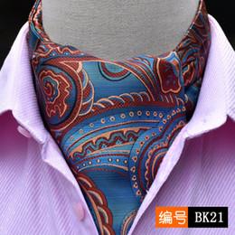 d6879b7fd370 Men Vintage Wedding Formal Cravat Ascot Scrunch Self Ties Gentleman  Polyester Silk Scarves Neck Tie Luxury Paisley Pattern