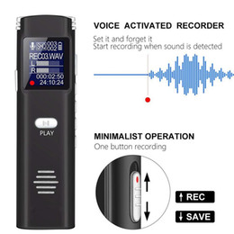 real time display UK - profession Smart noise reduction Digital Audio Recorder 8GB HD mini dictaphone small sound voice recorder MP3 Player with real-Time Display