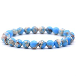 Wholesale Hot Sale Classic Kinds Natural Stone Bead Charm Bracelets Bangles Fashion Geometric Beaded For Men Women Couples Jewelry