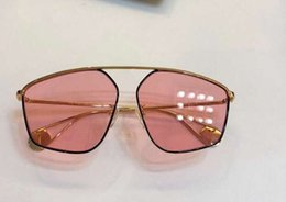 Pink Shades Australia - Gold black Pink Shaded Sunglasses 0437 Women Sun Glasses uv 400 outdoor protection eyewear Top Quality New with box