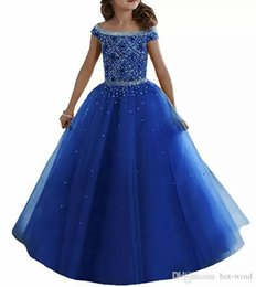 $enCountryForm.capitalKeyWord UK - Lavender Water Melon Lovely Girls Pageant Dresses Off Shoulders Crystals Beaded Corset Back Flower Girl Dresses Organza Kids Formal Wear