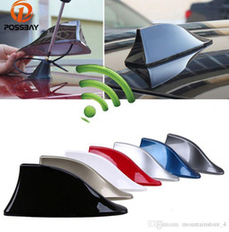 shark fin car radio antenna NZ - Car Signal Aerials Shark Fin Antenna for Polo Ford Nissan FM Signal Roof AM Signal Radio Aerials Roof Antennas
