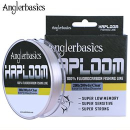 brand fishing lures Australia - Anglerbasics Brand 100% Real Fluorocarbon 182M Leashes Fly Or Lure Fishing Monofilament Leader Line 4LB-20LB