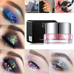 bright pink eye shadow Australia - 34 Colors Shining Sequins Eye Shadow Single Palette Illuminator Glitter Eyeshadow Party Eyes Pigment Cosmetics