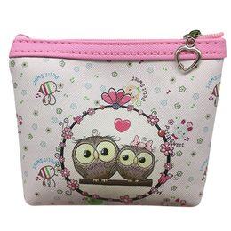 $enCountryForm.capitalKeyWord Australia - Women Small Cute Owl Wallet Credit Card Holder Short Pu Leather Coin Purse Zipper Change Purse Best Child Gift 2019 Fashion