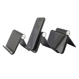 Wholesale Universal desktop folding mobile phone stand Tablet computer stent portable lazy stent for Android iphone samsung HTC Cell phones