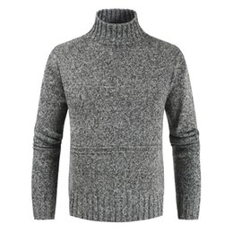 cotton cashmere turtleneck Australia - New Mens cotton Classic Wool Knitwear Sweaters Thick Warm Cashmere Sweater Men Turtleneck Slim Fit Pullover Pull Homme