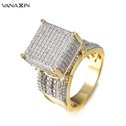 $enCountryForm.capitalKeyWord Australia - Vanaxin Wide Men Rings Square 3d Punk Zircon Ring Jewelry Paved Cz Crystal Shiny Gift For Male Engagement Ring High Quality Gold J190627