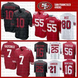 635dae275 10 Jimmy Garoppolo Jersey San Francisco 7 Colin Kaepernick 49er Foster Joe  Montana Jerry Rice Richard Sherman 55 Dee Ford Young Sanders
