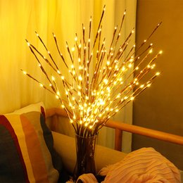 led light tree branches UK - LED Willow Branch Lamp Floral Lights 20 Bulbs Home Christmas Party Garden Decor Christmas Birthday Gift gifts