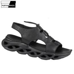 $enCountryForm.capitalKeyWord Australia - New Designer Men Genuine Leather Sandals 2019 Summer Gladiator Sandals Fashion Breathable Open Toe Cowhide Beach Male