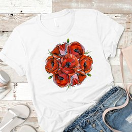 female graphic tees Australia - Women Shirt Womens Floral Paint Lover Summer Casual Short Sleeve Female Tshirt Tees Printed Graphic Top Clothes T-shirt