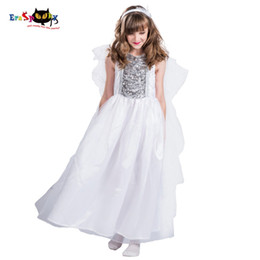 8e63cc46a67f ostumes halloween costumes Girls Princess Christmas Costume for Kids Angel  Wings Dress Halloween Cosplay Carnival Party Dress Child Whit.
