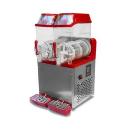 Metal Makers Australia - 850W Snow Melting machine double Tank Slush Machine Cold Drink Maker Smoothies Granita Machine Sand ice machine