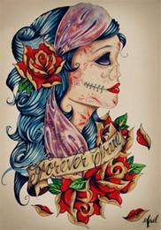 $enCountryForm.capitalKeyWord Australia - old skull love embroidery people sexy girl diy diamond painting cross stitch kit home mosaic decoration gift