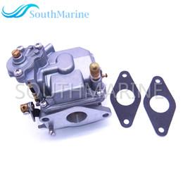 Engine Start Australia - Boat Engine 66M-14301-12 Carburetor Assy and 66M-13646-00 Gaskets (2 pcs) for Yamaha 4-stroke 15hp F15 Electric Start Outboard Motor
