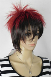 HealtHy wigs online shopping - price Hot Sell TSC new healthy black red mixed short wig Women ladies Cosplay peruca hair wigs