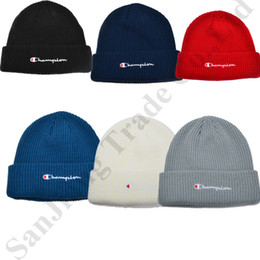 $enCountryForm.capitalKeyWord Australia - Beanies Knitted Hat Designer Champion Winter Warm Thick Beanie Fedora Gorro Bonnet Skull Hats for Men Women Crochet Skiing Cap Hat C81905