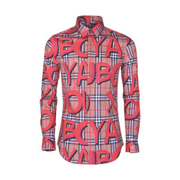 plus size clothes europe 2019 - Big Letter Printed Men Shirt Europe Fashion Style Plus Size Clothing Male Square Collar Full Sleeve Slim Casual Shirts 2