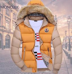 2019 Marka Yeni Varış Kış Erkekler Aşağı Ceket Sıcak Moda Aşağı Ceket Su Geçirmez Ceket Erkek Kapüşonlu Kış Adam Mont indirimde
