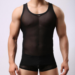 black see through teddy Canada - Sexy Corsets Teddies Bodysuits Lingerie Sexy Leotards Men's Jumpsuit See through Gauze Undershirts Gay Sheer Shapers Men Bodysuits